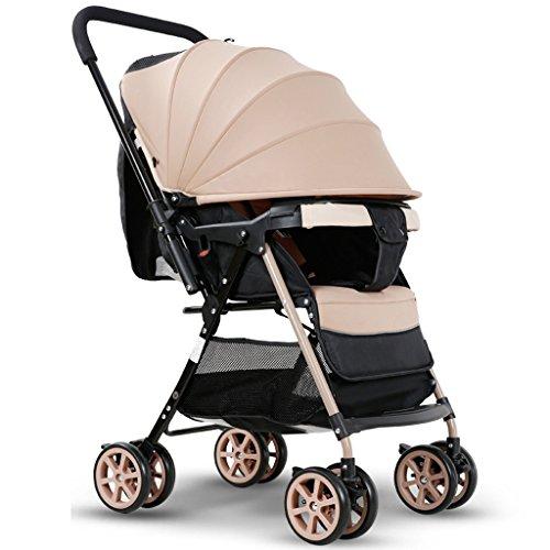 Cochecitos de bebé Plegado Ultraligero Se Puede sentar Se Puede Descansar Alto Paraguas para el Paisaje Carrito de bebé...
