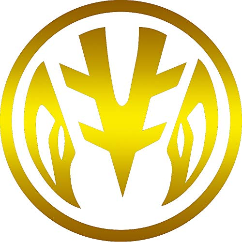 (ANGDEST White Ranger Power (Metallic Gold) (Set of 2) Premium Waterproof Vinyl Decal Stickers for Laptop Phone Accessory Helmet Car Window Bumper Mug Tuber Cup Door Wall Decoration)