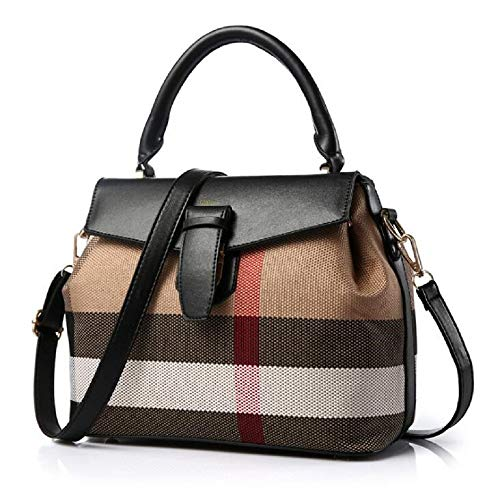 Woman Handbag On Sale Stylish Crossbody Satchel Shoulder Trendy Modern Fashionable Designer Tote leather Ladies wallets bags & purse on clearance (color BLACK, SIZE: 11L,5W, 9H in INCH)