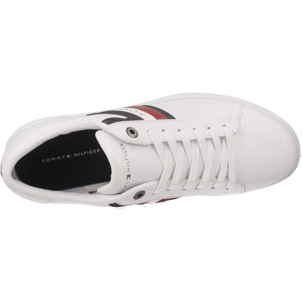 Amazon.com | Tommy Hilfiger Corporate Mens Sneakers White | Fashion Sneakers