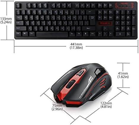 reetec tamaño compacto silencioso 2,4 gHz teclado inalámbrico ...
