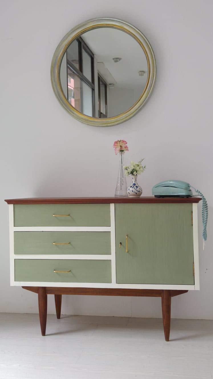 Mueble aparador/cajonera/salon/cuarto/verde/madera/mueble ...