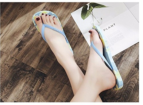 XZ da morbido pantofole infradito per fondo di Nuovi spiaggia prodotti italiana LIUXINDA Blue gli studenti moda piatto fondo scarpe antiscivolo donna Estate dv7qSUwx