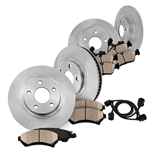 FRONT 320 mm + REAR 299.83 mm Premium OE 5 Lug [4] Rotors + [8] Quiet Low Dust Ceramic Brake Pads + - Brake Audi Cabriolet