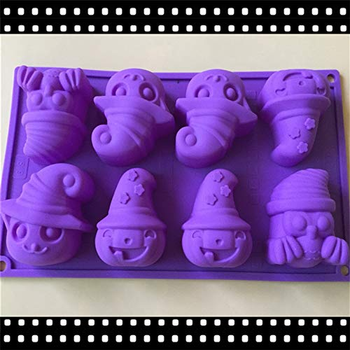 Creative Style Halloween Silicone Cake Chocolate Soap Pudding Jelly Candy Ice Cookie Biscuit Mold Mould 3D Molds Biscuits Moulds Pan Bakeware
