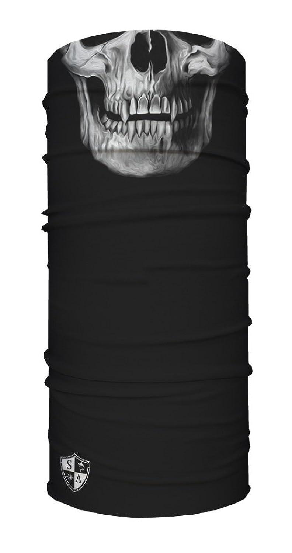 SA Face Shield Bandana Máscaras Tactial Black Skull - EL ORIGINAL -