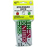 KOP11700 - DOT DICE 6 EACH OF RED WHITE GREEN