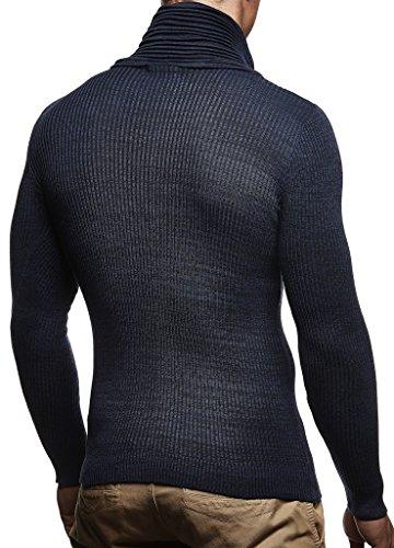 Crew Bleu Ln1535 Manche Sweatshirt Basic Feinstrick Longue Foncé Sweater Nelson Pullover Châle Tricot Hoodie Col Hommes Leif Neck Pour Des Pull En q7xnw4RHZ