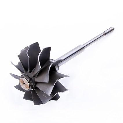 Turbo turbina rueda eje Garrett T3/T4 fase 5/76 Trim 73 mm/