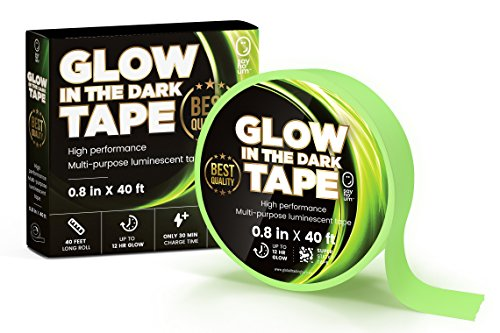 Duct Tape Halloween Costumes (Glow in the Dark Luminescent Duck Tape | Extra 10 feet length: 40 ft x 0.8 in | 12 Hours High Performance Glow| Waterproof Safety Home Stickers, Glow Party Decorations, Outdoor Games and Stage Markers)