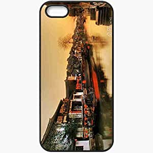 Protective Case Back Cover For iPhone 5 5S Case China River Home Black