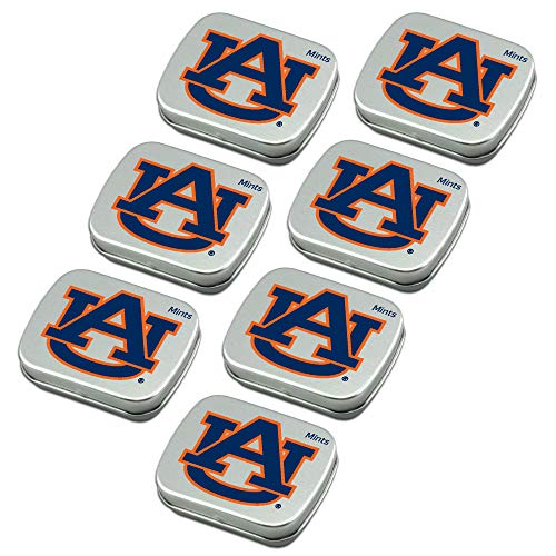(Worthy Promo NCAA Auburn Tigers Party Favors Sugar-Free Peppermint Candy Mint Tins)