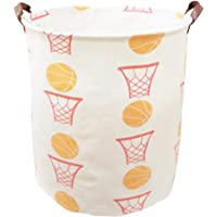 BOOHIT Cotton Fabric Storage Bin,Collapsible Laundry Basket-Waterproof Large Storage Baskets,Toy Organizer,Home Decor