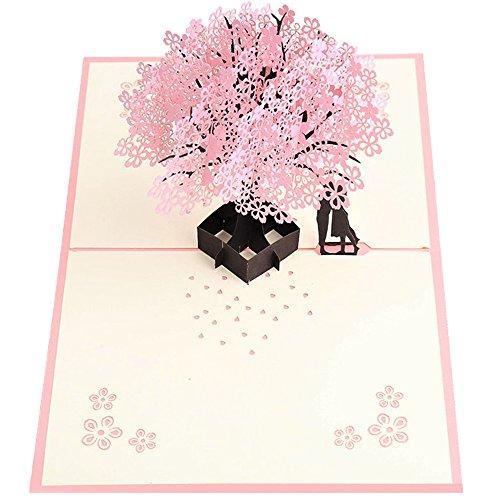 Handmade Pop Up Romantic Birthday Anniversary Dating Card For