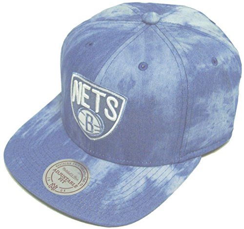 Mitchell & Ness and Brooklyn Nets Blue Dyed Denim EU129 Snapback Cap Basecap (Brooklyn Nets Blue Denim Snapback)