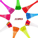 Chamvis Water Balloons Fill in 60 Seconds 333 pcs Water Balloons 9 bunches Be ready for Water Bombs Fight