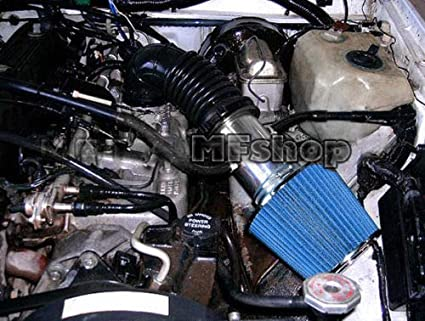 Air Intake Filter Kit System for 1988 1989 1990 1991 1992 1993 1994 1995 1996 Jeep Cherokee Laredo Country Classic Sport with 4.0L I6 Engine Black Accessories with Blue Filter