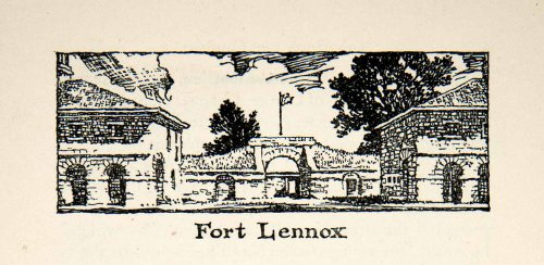 1947 Lithograph Fort Lennox Quebec Canada Military Ile Aux Noix Richelieu River - Original In-Text - Military Oakley Canada