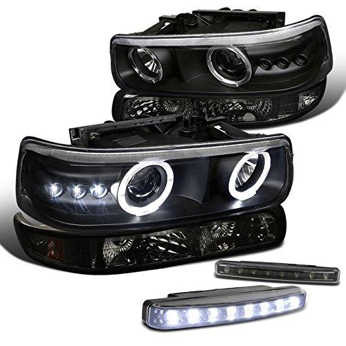 Black Silverado Projector Headlight Bumper