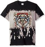 FEA Mens Megadeth Skull and Crossbones Bleach Waterfall T-Shirt