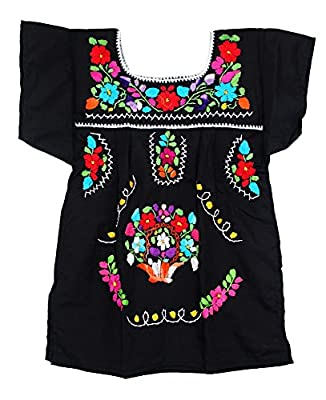 Liliana Cruz Embroidered Mexican Youth Girls Dress