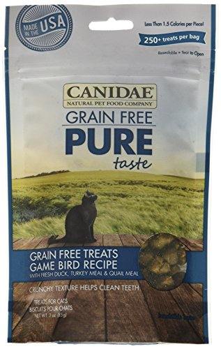CANIDAE Grain Free PURE Taste Cat Treats with Game Bird, 3 oz