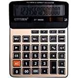 Aisa Office School Electronic Calculator 14 Digits LED Display Solar Battery Power Desktop Calculating Machine