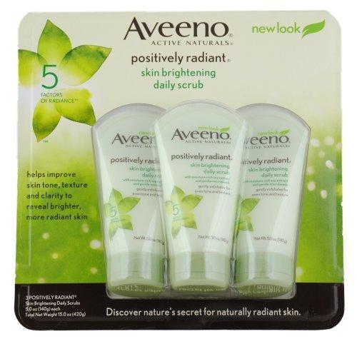 Aveeno Skin Brightening Daily Scrub, 5-Ounce Tubes