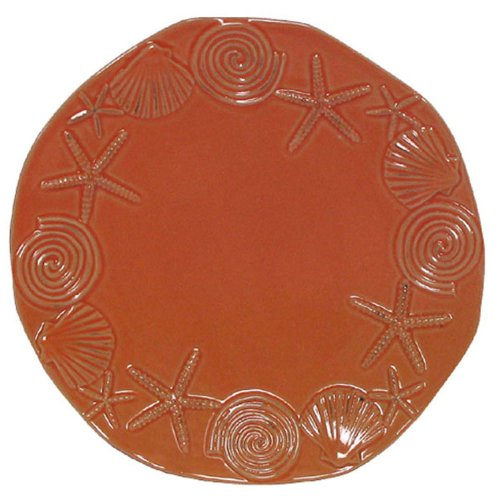 Stoneware Sea Life Coral Dinner Plate, Set of 2 - 10