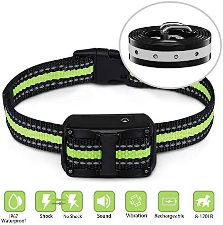 FIMITECH Dog Bark Collar, 5 Adjustable Levels Anti-Barking Collar with Beep, Vibration and Shock Modes, Rechargeable and Waterproof No Barking Collar for Large, Medium and Small Dogs