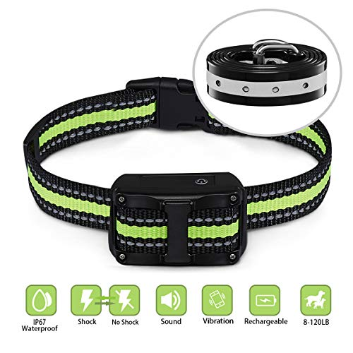 Bark Collar - FimiTech Dog Bark Collar, 5 Adjustable Levels Anti-Barking Collar with Beep, Vibration and Shock Modes, Rechargeable and Waterproof No Barking Collar for Large, Medium and Small Dogs