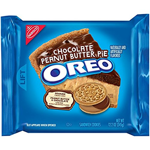 Peanut Butter Pie Filling - Oreo Chocolate Peanut Butter Pie Sandwich Cookies (limited edition) 12.2 Oz. (2 PACK)