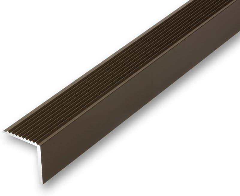 Treppenwinkel 30 x 30 x 1180 mm goldfarben zum verschrauben Treppen-Kantenprofil Stufen-Profil Alu-Winkel-Profil gebohrt inkl. Schrauben u. D/übel , gold 30 x 30 x 1180 9,36/€//m