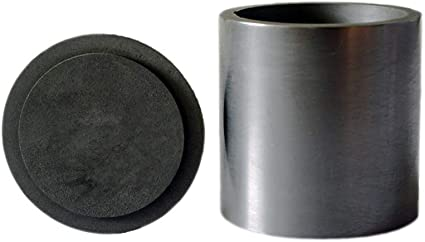 OTOOLWORLD Smelting Lab Graphite Crucible with Cover Lab Supply 20MM X 20MM