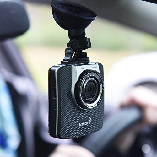 ivation dash cam hd 1296p video gps audio recorder 155 wide angle lens motion detection. Black Bedroom Furniture Sets. Home Design Ideas