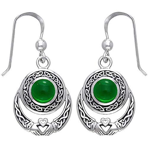 KWUNCCI Celtic Knot Vintage Claddagh Dangle Drop Earrings Sterling Silver Plated Good Luck Irish Fashion Jewelry for Women Girls