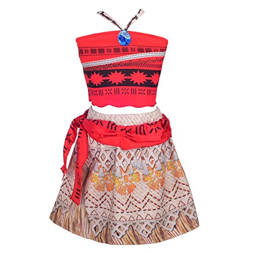 Dressy Daisy Girls Princess Moana Costumes Adventure Skirt Halloween Fancy Party Dress Size 2T / 3T