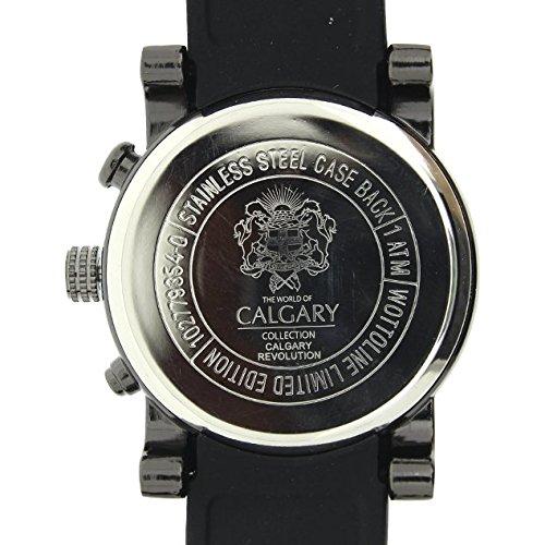 Relojes Calgary Calgary Revolution. Reloj Deportivo para Hombre. Correa de Caucho Negra. Esfera Blanca: Amazon.es: Relojes