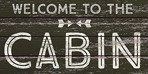 Fan Creations Welcome to The Cabin Small Wooden Sign - Welcome Cabin