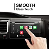 Honda Fit 2017 7-Inch Car Navigation Screen Protector,LFOTPP [9H Hardness] Tempered Glass In-Dash Screen Protector Center Touch Screen Protector Anti Scratch High Clarity
