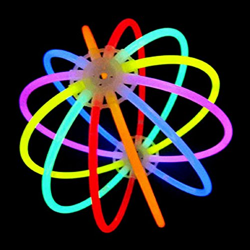Glow Stick Ball, Party Lovers Ultra Bright Glowing Stick Ball, Brilliant Glowing Non-inflammable Colored Stick, 4 Pack