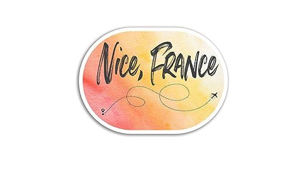 2 x 10 cm Niza Francia pegatinas de vinilo fresca del viaje del equipaje del ordenador port/átil # 17930 10 cm de ancho