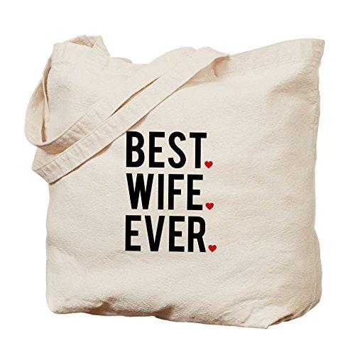 CafePress–mejor esposa Ever Tote Bag–Natural gamuza de bolsa de lona bolsa, bolsa de la compra