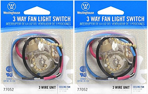 Westinghouse Lighting Corp 3 Way Fan Light Switch