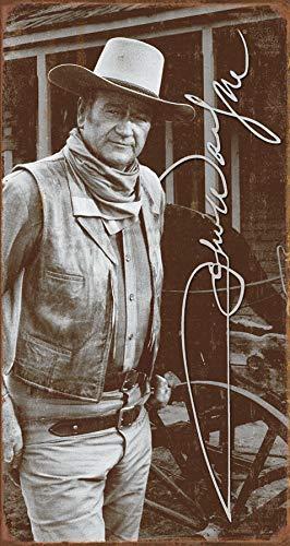(Desperate Enterprises John Wayne Signature Tin Sign, 8.5