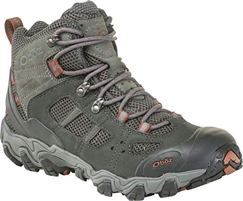 - Oboz Bridger Vent Mid Hiking Boot - Men's Dark Shadow/Brandy Brown 12