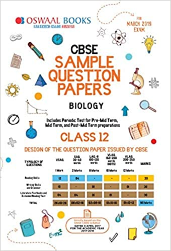 Oswaal CBSE Sample Question Papers Class 12 Biology For March 2019
