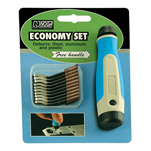 NOGA NG8200 S10 Heavy Duty HSS Blade 20 Pack with Free NogaGrip Handle by Noga