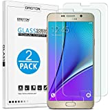 OMOTON 3322750 9H Ultra-Clear Anti-Scratch Tempered-Glass Screen Protector 2.5D Round Edge for Samsung Galaxy Note 5, Pack of 2