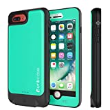 PunkJuice iPhone 8 PLUS Battery Case - Waterproof Slim Portable Power Juice Bank W/ 4800mAh High Capacity - Fastcharging - 150% Extra Battery Life for Apple iPhone 7/8/6/6s PLUS [Teal]